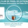 """CLUB DE TENIS CABEZARRUBIA . PREMIO """"MEJOR CLUB DE PÁDEL DE EXTREMADURA"""""""