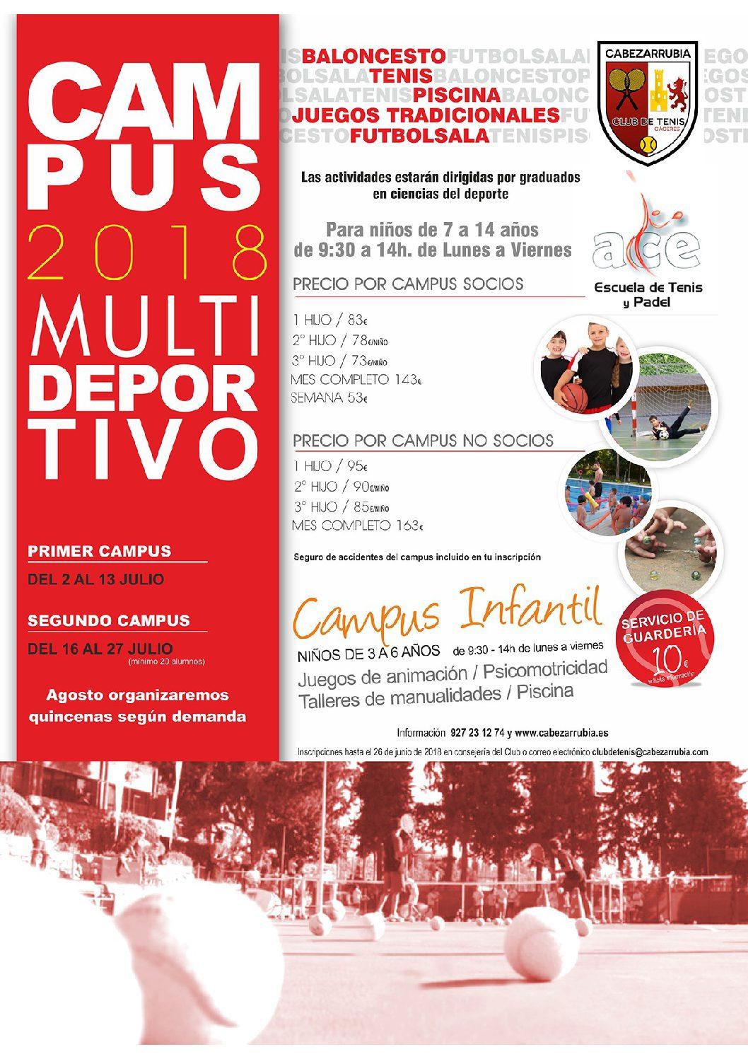 CAMPUS MULTIDEPORTIVO CLUB DE TENIS CABEZARRUBIA