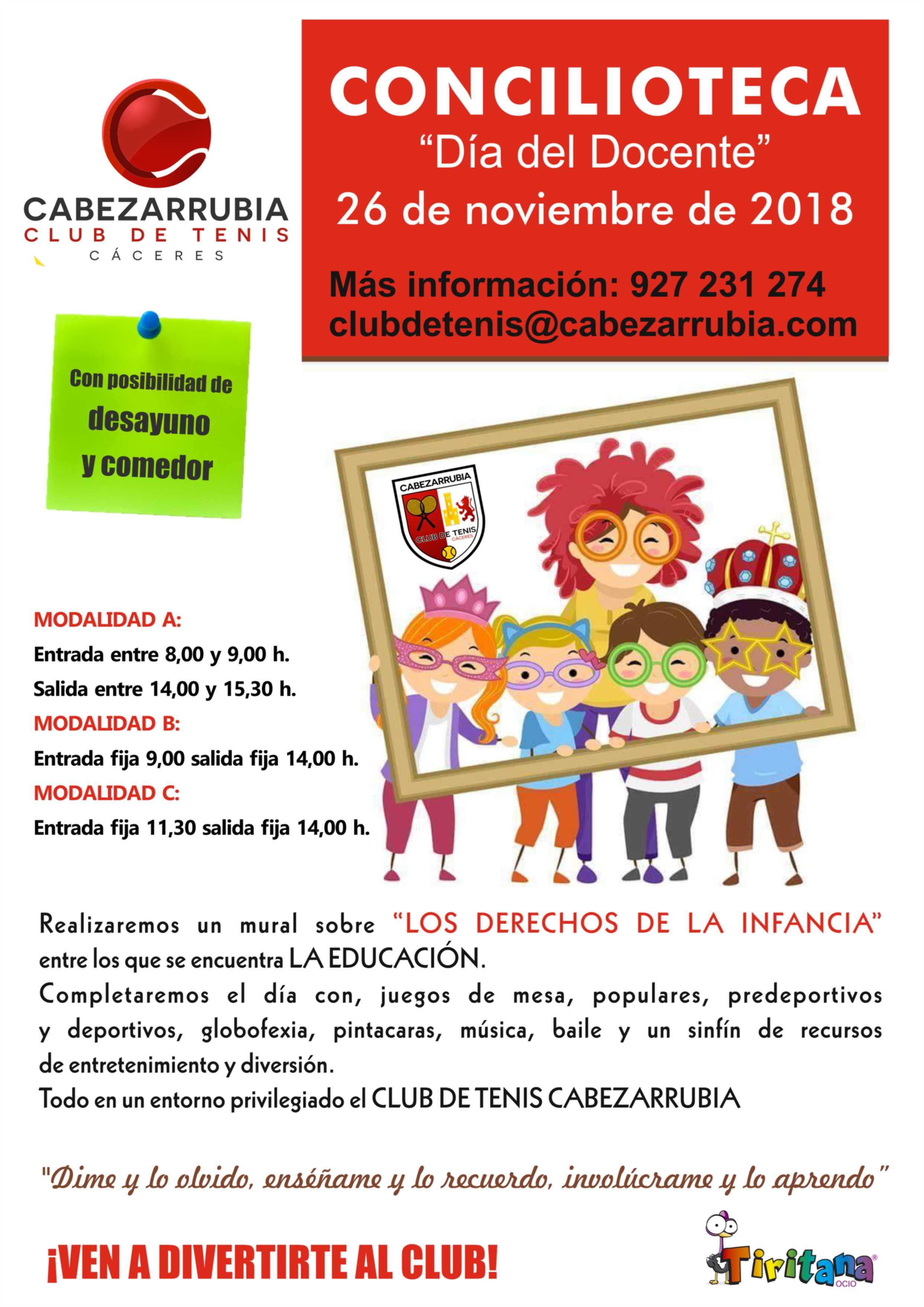 Cartel Día del Docente 2018 cabezarrubia