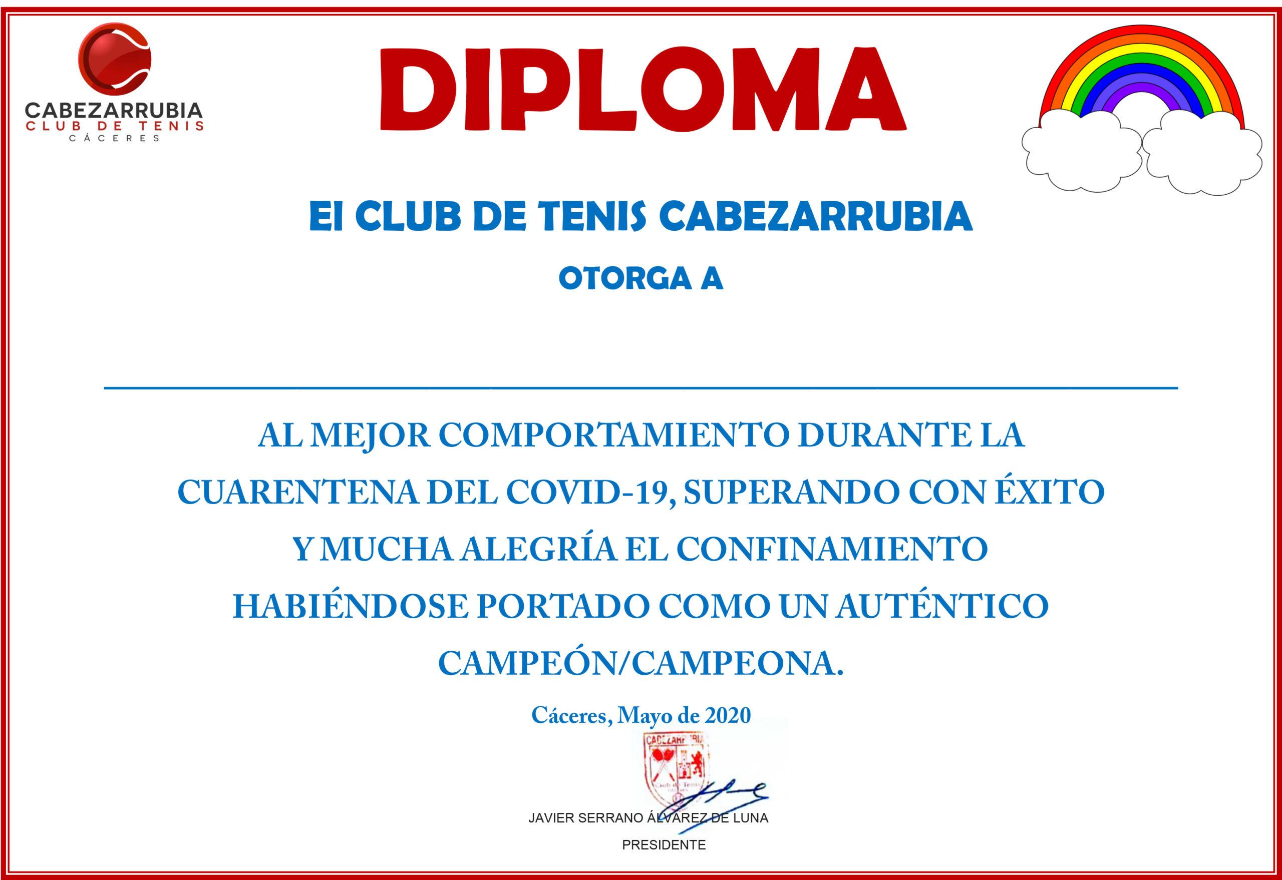 diploma Campeon